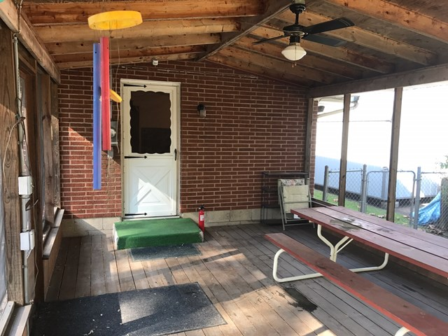 INSIDE SCREENED PORCH